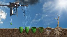 This drone startup has an ambitious plan to plant 1 Billion trees a year | Why plant one tree when a drone can shoot pregerminated seed pods at the ground without you lifting a finger? An engineer, Fletcher spent 20 years at NASA before setting up the new company.(+video)
