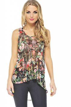 Floral Landscape Top $33