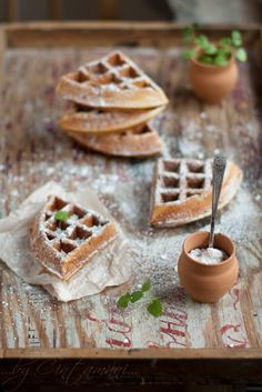 ♂ Food Styling Photography still life Vanilla Waffels