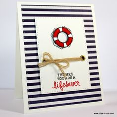 Clips-n-Cuts | Nautical card and Giveaway Winner | http://www.clips-n-cuts.com