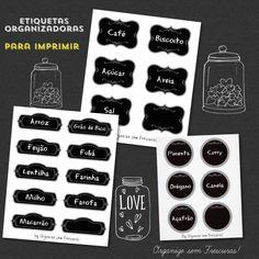 Organize sem Frescuras | Rafaela Oliveira » Arquivos » Etiquetas organizadoras e fofas para imprimir