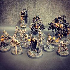 """Gothic Deathrattle army grows… #ageofsigmar #warhammer #paintingwarhammer"""