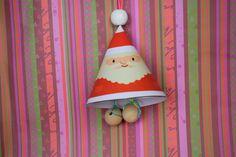 Hanger van de Kerstman  knutselen voor in de kerstboom met handige print