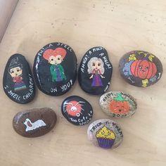 Hocus Pocus Sanderson sisters Halloween painted rocks