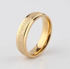 Find More Rings Information about Free shipping 6mm Width Dull  Polish Never Fade titanium gold scrub lovers matting ring 316L ring,High Quality ring bear,China ring mouth Suppliers, Cheap ring chart from Chinese Jewelry Factory,Wholesale From Yiwu China on Aliexpress.com