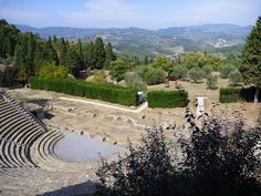 Best day trips from Tuscany using public transportation. Hill town of Fiesole, Tuscany
