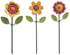 Gypsy Garden Mini Flower Picks - Set of 3 asst. Item #: GG140