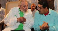 ¡ASESINAR Y A EMPOBRECER A LOS PUEBLOS! Maduro agradeció a Fidel Castro sus enseñanzas