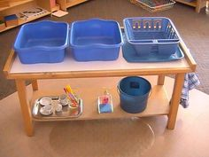 Image result for child size dish washing table
