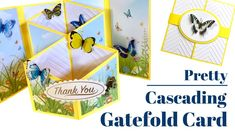 Pretty 6 x 6 Cascading Gatefold Card - YouTube Fancy Fold Cards, Folded Cards, Cascading Card, Special Birthday Cards, Craft Stash, 3d Cards, Craft Tutorials, Cardmaking, Things To Think About