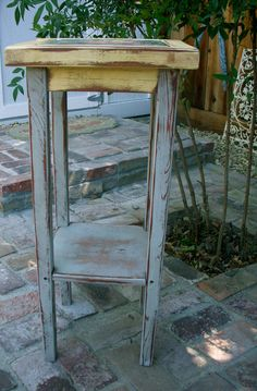 Accent Table - Shabby - Cottage Chic - Wood Furniture - Side - End. $295.00, via Etsy.