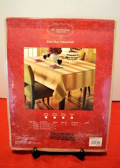 "St.Nicholas Square Gold Ikat 70"" Round Fall Christmas Holiday Tablecloth New #StNicholasSquare"