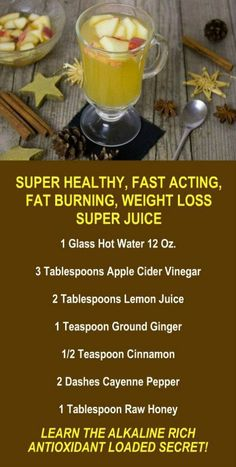Apple Cider Vinegar Fat Burning, Weight Loss, Metabolism Boosting Juice. Are you trying to lose weight? Our incredible alkaline rich, antioxidant loaded, weight loss products help you increase energy, detox, cleanse, burn fat and lose weight more efficien