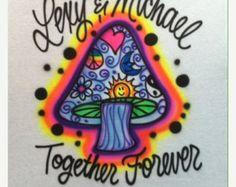 Mushroom Shirt Airbrush Kids Shirt Airbrush Design Airbrush TShirt T shirt Gift Gifts Birthday Kids Airbrush Designs