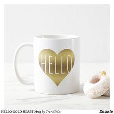 HELLO GOLD HEART Mug