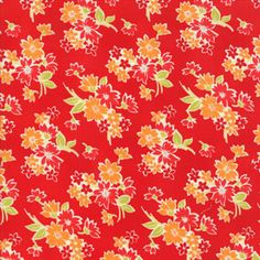 #Moda #MissKate Spring Flowers on Red Fabric #55091-11 - only $8.99/yard in my store!  http://lisasstitchingpost.com/product_info.php?products_id=1395 #BonnieandCamille #ThimbleBlossoms #CamilleRoskelly