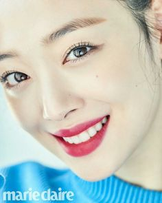 Sulli shows off her unfailing beauty in 'Marie Claire' Sulli Choi, Choi Jin, Essential Oils For Psoriasis, Korean Makeup Look, Korean Actresses, Rosacea, Marie Claire, Krystal, K Idols