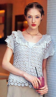 Free crochet pattern top blouse shirt
