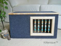 Beaded Cat House. Carefully handcrafted with new quality materials and built to last for years. https://www.etsy.com/shop/Kittenique?ref=l2-shopheader-name