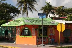 Our favorite taco stand in Puerto Morelos, Mexico.