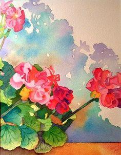 geraniums.  Great Shadows.