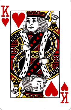Queen Playing Card | King and Queen of Hearts Playing Cards