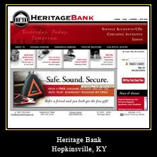 My Web Design Clients: Heritage Bank. Hopkinsville, Kentucky.