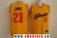Men's Cleveland Cavaliers #23 LeBron James 2017 Yellow Fashion Stitched NBA Nike Basketball Jersey