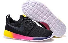 Custom Nike Roshe Run Black Rainbow by TagzCustomkickz on Etsy