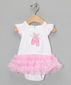 Take a look at this Pink Ballet Tutu Bodysuit  by Vitamins Baby on #zulily today!