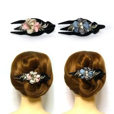 High quality ,durable and convenient,the design of hair claw is elegant and beautiful. - Unique crystal flower hair clip,making you more charming and eye-catching. - A useful hair riser and ponytail holder, easy and convenient to make your own hair style. Satin Flowers, Flowers In Hair, Fabric Flowers, Black Rhinestone, Crystal Rhinestone, Fashion Accessories, Hair Accessories, Leather Flowers, Hair Claw