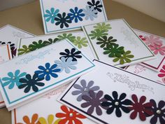 Easy and fun handmade diy thank you card! Stampin Up Demonstrator UK: Blossom Party Thank You Cards