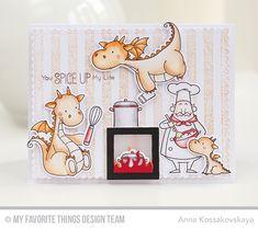 Magical Dragons Stamp Set and Die-namics, Recipe for Happiness Stamp Set and Die-namics, Distressed Stripes Background, Fireplace Die-namics, Blueprints 27 Die-namics, Tag Builder Blueprints 5 Die-namics - Anna Kossakovskaya  #mftstamps