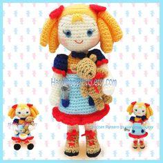 Goldilocks and the Three Little Bears Amigurumi PDF Crochet Pattern by HandmadeKitty. $5.99, via Etsy.