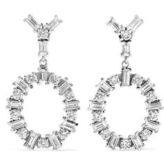Ileana Makri Again 18-karat white gold diamond earrings (197.269.800 IDR) ❤ liked on Polyvore featuring jewelry, earrings, holiday earrings, evening earrings, 18k earrings, handcrafted earrings and circle diamond earrings