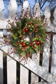 Christmas Front Door Wreath Front Door Wreath by JPotterBlooms, $47.00
