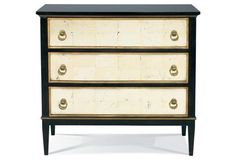 Tracery Chest w/ Eglomise Drawers, Brown