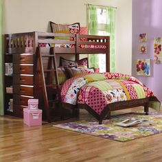 Weston Twin Over Full L Shaped Storage Bunk Bed