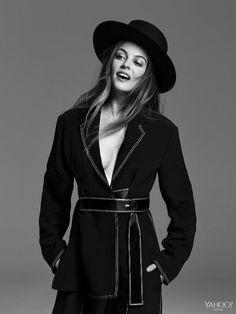 Riley Keough Wears Céline Céline Viscose Jumpsuit, $5,100, Available at Ikram, ikram.com      Pollini Black & White Patent Shoes, $995, pollini.com   Worth & Worth by Orlando Palacios Bolero Hat, $225, hatshop.com