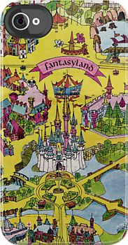 Vintage Walt Disney World Map Fantasyland 1971 by tylersmith.... I think this is absolutely amazing, and certainly fantastic