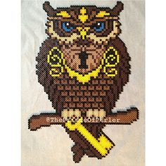 Owl hama perler beads by theprinceofperler