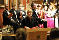 Marin Alsop is presented with Honorary Membership of the Academy. © Royal Academy of Music, October 2012