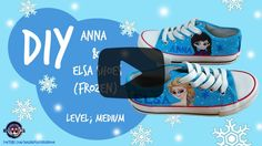 DIY Frozen Shoes Tutorial. Click here to find out how to make this