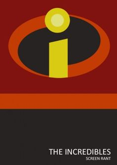 Minimalist Incredibles... Of course, this isn't much of a stretch... I just had to shout out to The Incredibles.