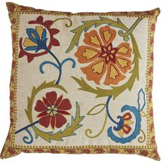 Global Floral Pillow