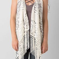 The Buckle Rain Fringe Vest NWOT New without tags Fringe Vest from the Buckle. Great for a summer look! Perfect condition- never worn. Buckle Tops Blouses