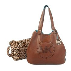 Welcome To Our Michael Kors Perforated Logo Grab Large Brown Shoulder Bags Online Store