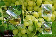 "MärzBlatt Geburtstagskarte ""Weinglas"" von PHOTOGLÜCK auf DaWanda.com"