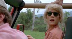 Laura Dern in Jurassic Park.