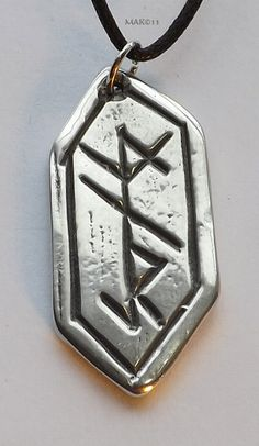 Protection Rune  Pewter Pendant  Nordic Norse by RaventreePewter, $15.95